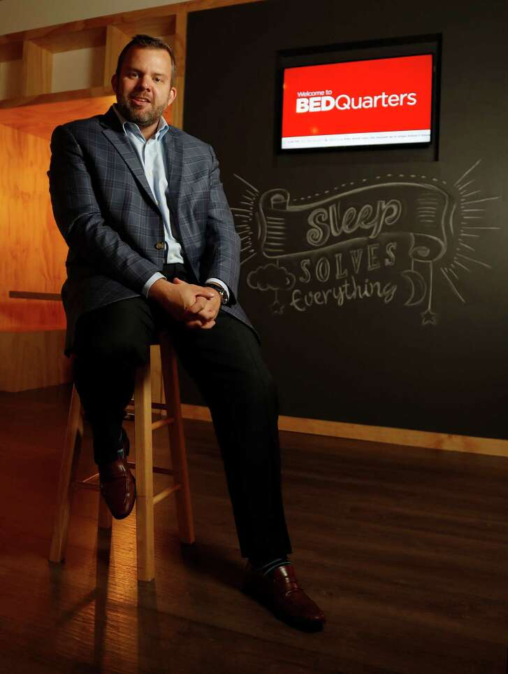 Mattress Firm's CEO Ken Murphy at his company's new BEDquarters building, Thursday,Nov. 3, 2016 in Houston.   ( Karen Warren / Houston Chronicle )