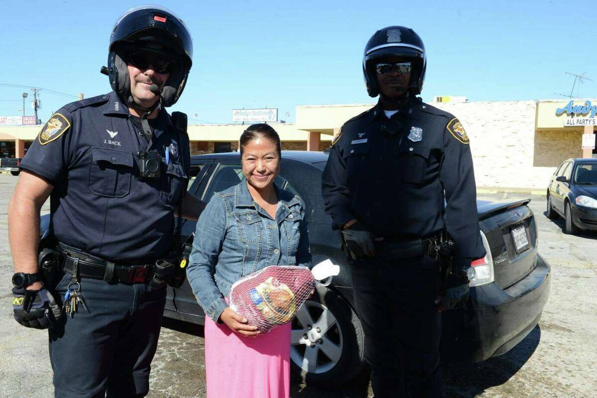 Fort Worth Police Department officers gave out turkeys instead of tickets this week.