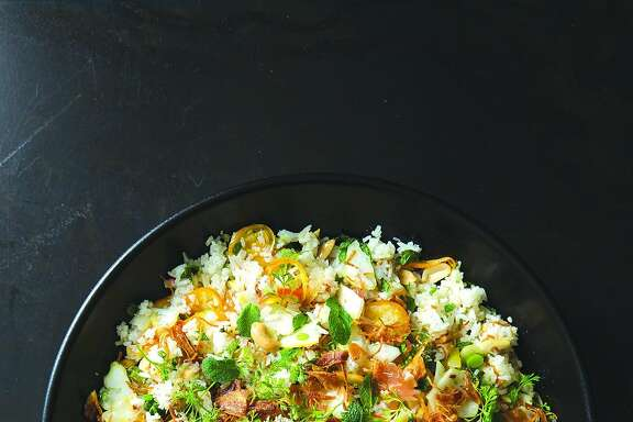 """Six Citrus Rice Salad from """"Dandelion & Quince: Exploring the Wide Word of Unusual Vegetables, Fruits, and Herbs,"""" by Michelle McKenzie (Roost Books)"""
