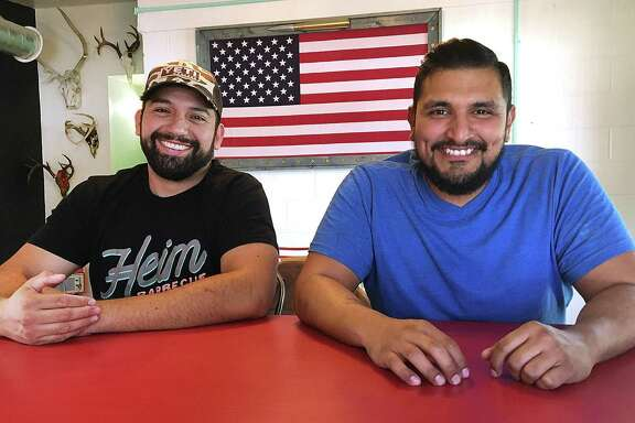 Joe Melig, left, and Esaul Ramos are bringing 2M Smokehouse to W.W. White Road in San Antonio on Dec. 3. Ramos trained with celebrated Austin barbecue pitmaster John Lewis.