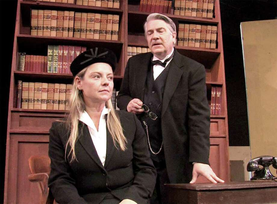 "Westport resident Samantha Pattinson and Barry Hatrick star in the Westport Community Theatre's production of Agatha Christie's ""Witness for the Prosecution,"" which runs from Nov. 25 through Dec. 11. Photo: Contributed / Contributed Photo / Westport News"