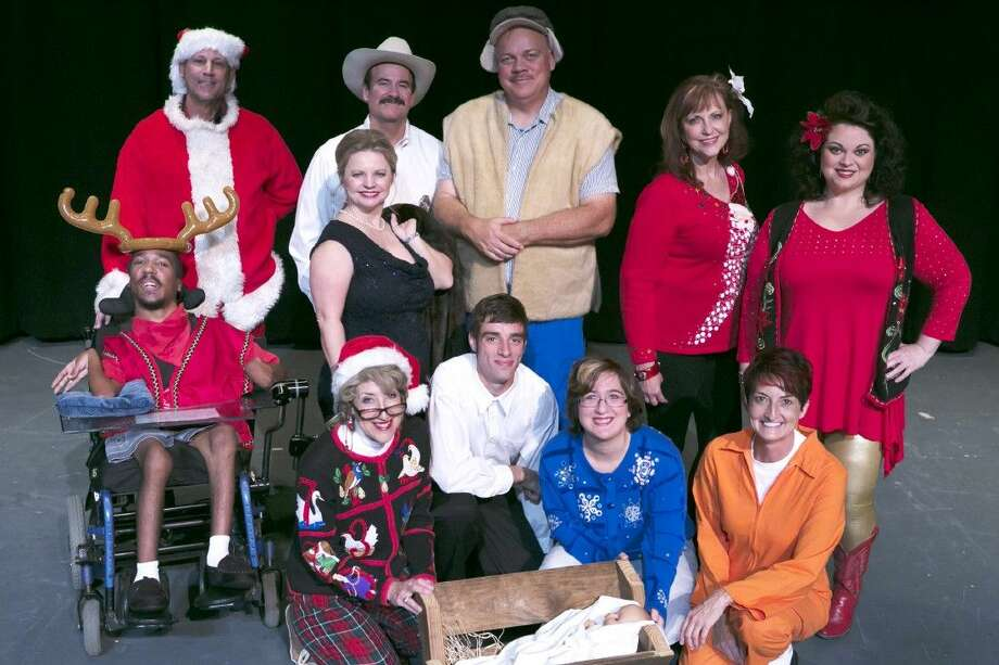 "Adam O'Connor, bottom left, is pictured as a part of Stage Right's ""Christmas Belles"" cast in December 2015. O'Connor passed away last week and his memorial service is Monday, Nov. 21, at 10 a.m. at Sacred Heart Catholic Church."