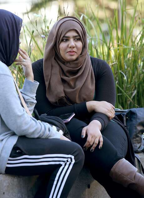 Yasra Syed is working on a buddy system for fearful Muslims at San Francisco State University. Photo: Liz Hafalia, The Chronicle