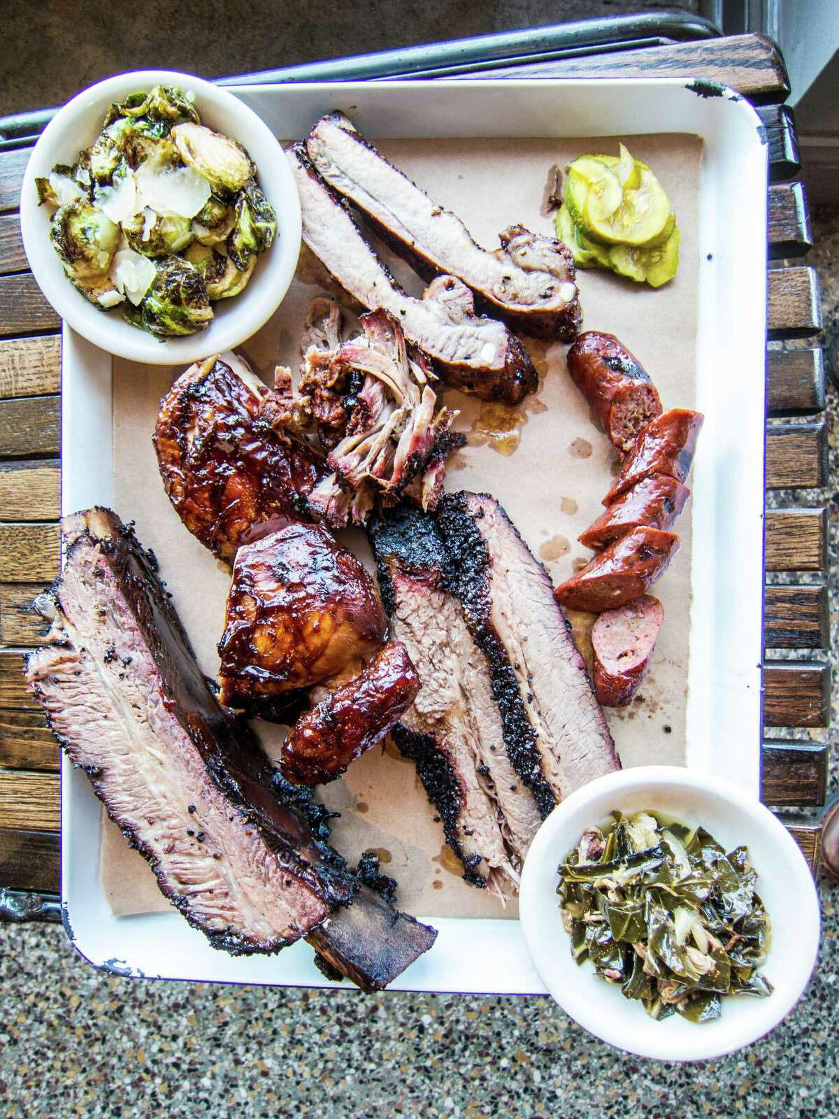Meat plate at Texas Jack's Barbecue in Arlington, Virginia