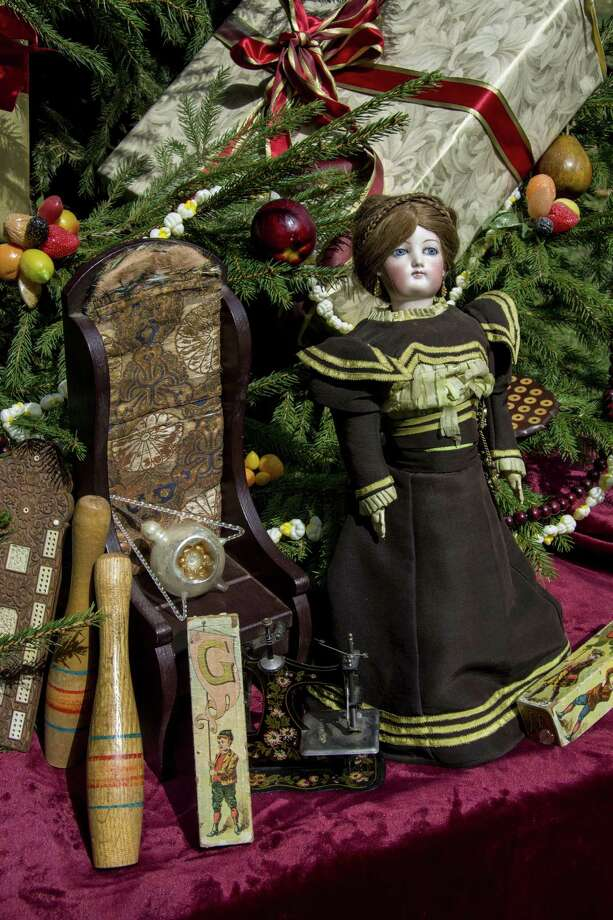 """At Norwalk's Lockwood-Mathews Mansion Museum a new exhibition, """"Holiday Splendor at the Mansion: Christmas and New Year's Celebrations,"""" will run through Sunday, Jan. 8. Photo: Sarah Grote / Contributed Photo / 2016"""