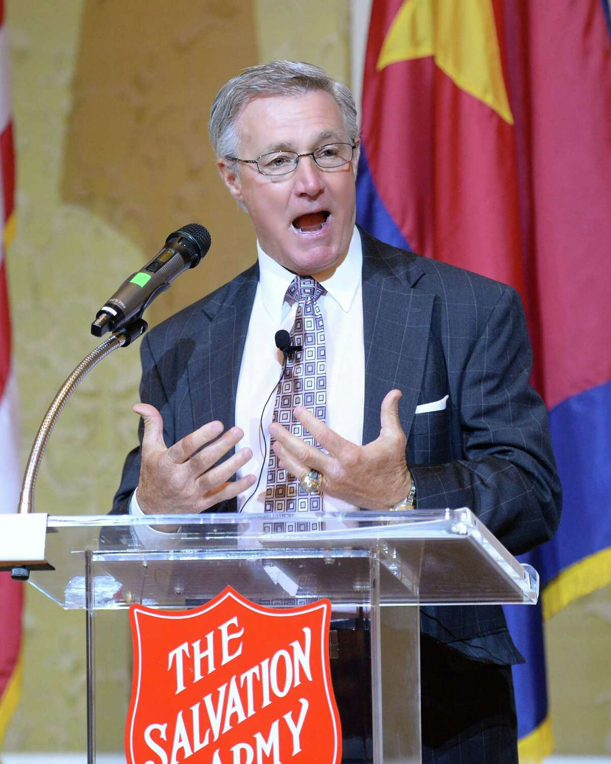 Keynote Speaker Tommy Bowden addresses attendees at the Salvation Army Annual Luncheon on Tuesday November 15, 2016 in Houston, TX.