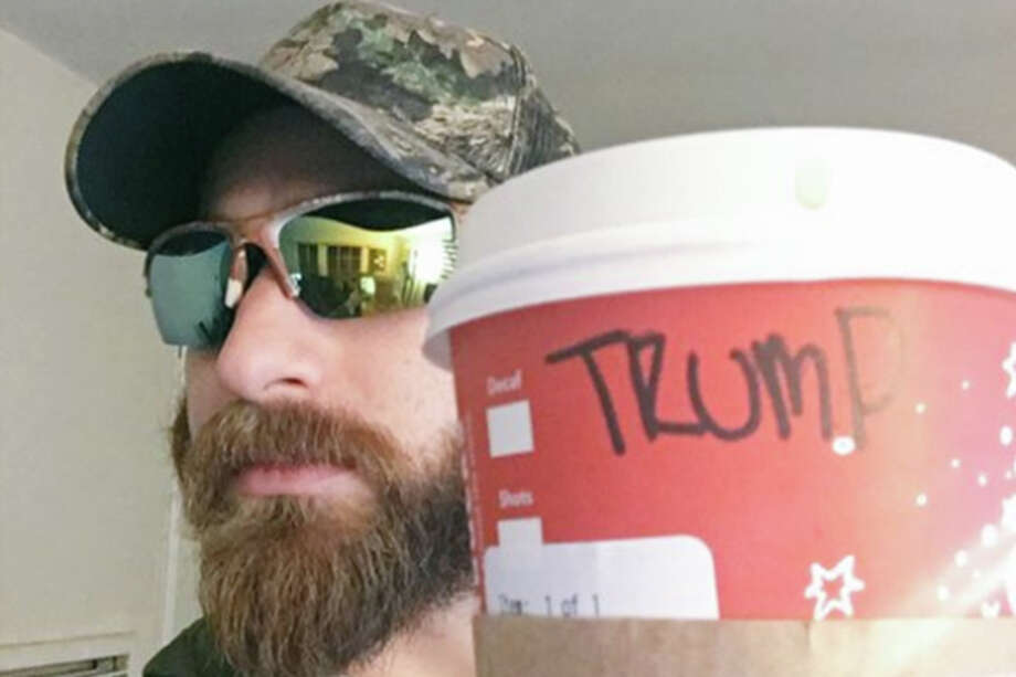 A #TrumpCup supporter displays his cup on Twitter.