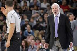 San Antonio head coach Gregg Popovich voices his dissatifaction with a referee during a game this month. After he expressed his views of the presidential election, readers on both sides of the aisle responded with as much passion as Popovich himself.