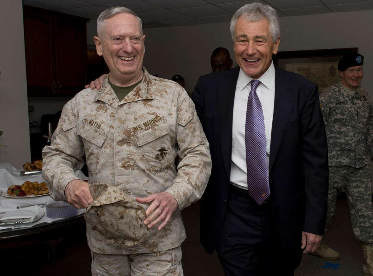 Gen. James Mattis, USCM (ret) and former Secretary of Defense Chuck Hagel