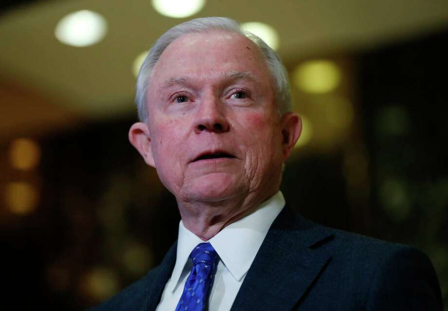 In this photo taken Nov. 17, 2016, Sen. Jeff Sessions, R-Ala. speaks to media at Trump Tower in New York. President-elect Donald Trump has picked Sessions for the job of attorney general. (AP Photo/Carolyn Kaster) Photo: Carolyn Kaster, STF / Copyright 2016 The Associated Press. All rights reserved.
