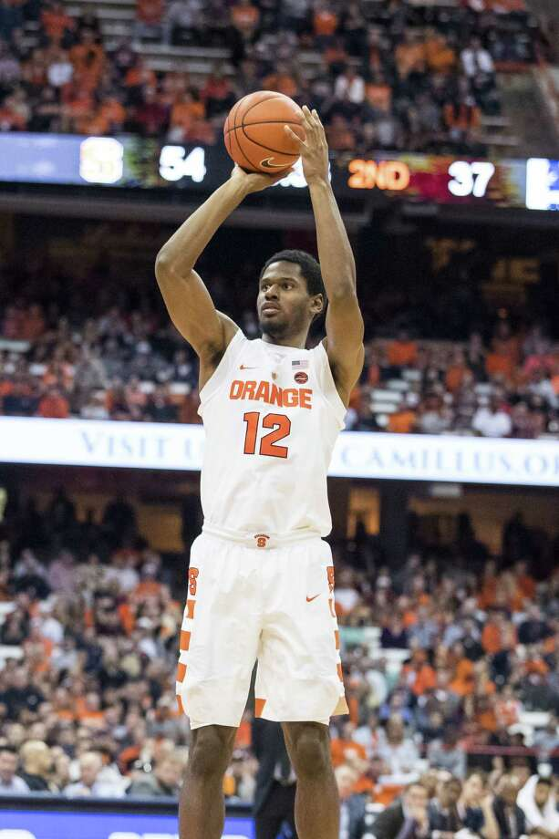 SYRACUSE, NY - NOVEMBER 18:  Taurean Thompson #12 of the Syracuse Orange shoots the ball during the second half against the Monmouth Hawks on November 18, 2016 at The Carrier Dome in Syracuse, New York.  (Photo by Brett Carlsen/Getty Images) ORG XMIT: 673169927 Photo: Brett Carlsen / 2016 Getty Images