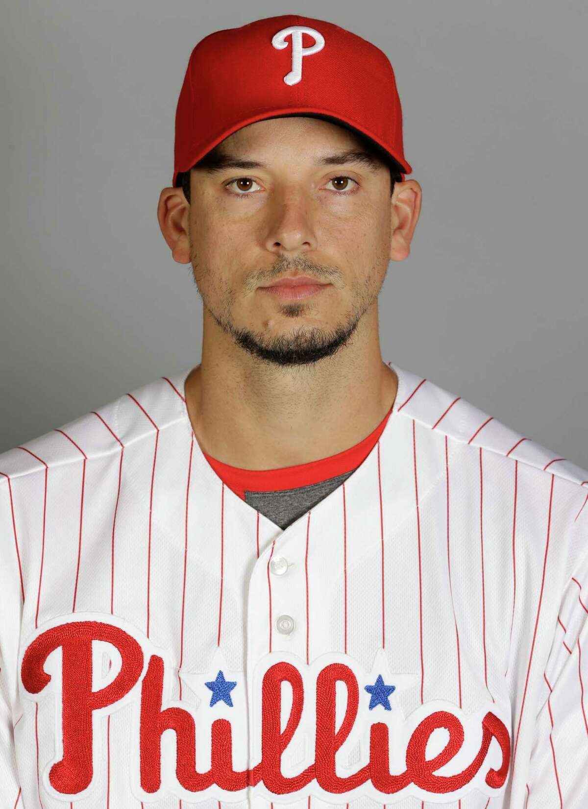 This is a 2016 photo of Charlie Morton of the Philadelphia Phillies. This image represents the Phillies active roster on Friday Feb. 26, 2016, in Clearwater, Fla. (AP Photo/Chris O'Meara)