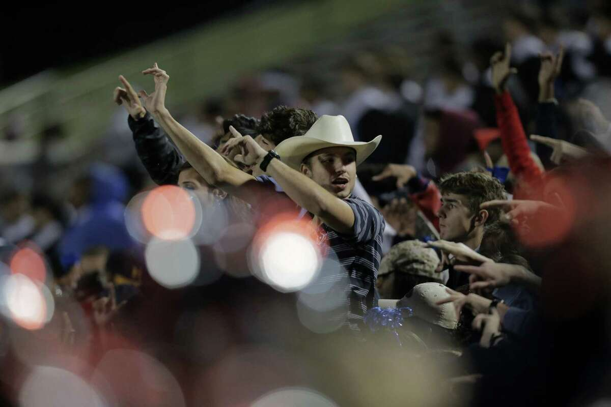 Lamar's student section cheers during the fourth quarter of on Friday, Nov. 18, 2016, in Houston. Lamar won the game 24-21.