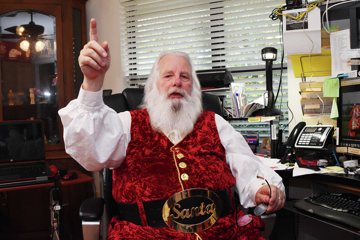 Jim Fletcher is busy preparing for another season for Lone Star Santas, a nonprofit organization based in Cypress, which includes more than 350 Santa Clauses, Mrs. Clauses, and elves that put on their boots and Christmas gear to bring joy to children of disaster-stricken areas.