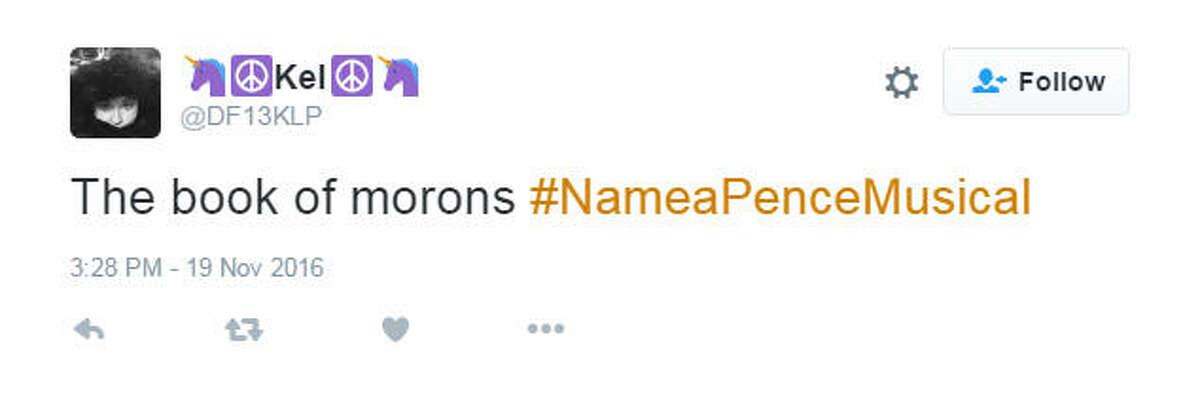Photo: #NameAPenceMusical Twitter