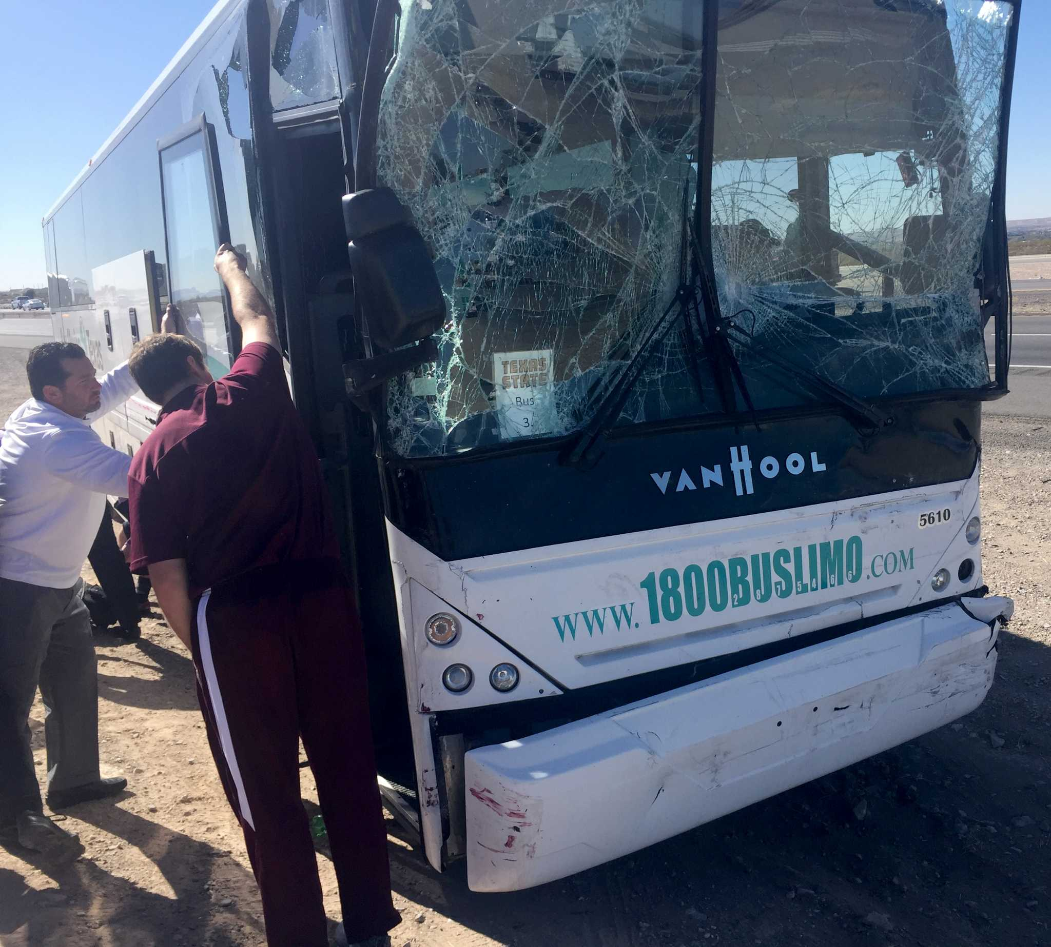 Bus Carrying Texas State Football Team Wrecks Near New
