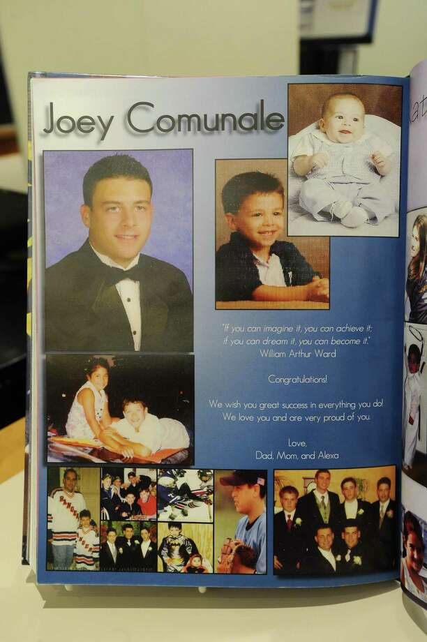 Joey Comunale's senior page from the Westhill High School yearbook in 2008. Comunale was murdered in New York City on Nov. 13 and his body dumped in Oceanport, N.J. Photo: Contributed /Westhill High School 2008 Yearbook / Stamford Advocate