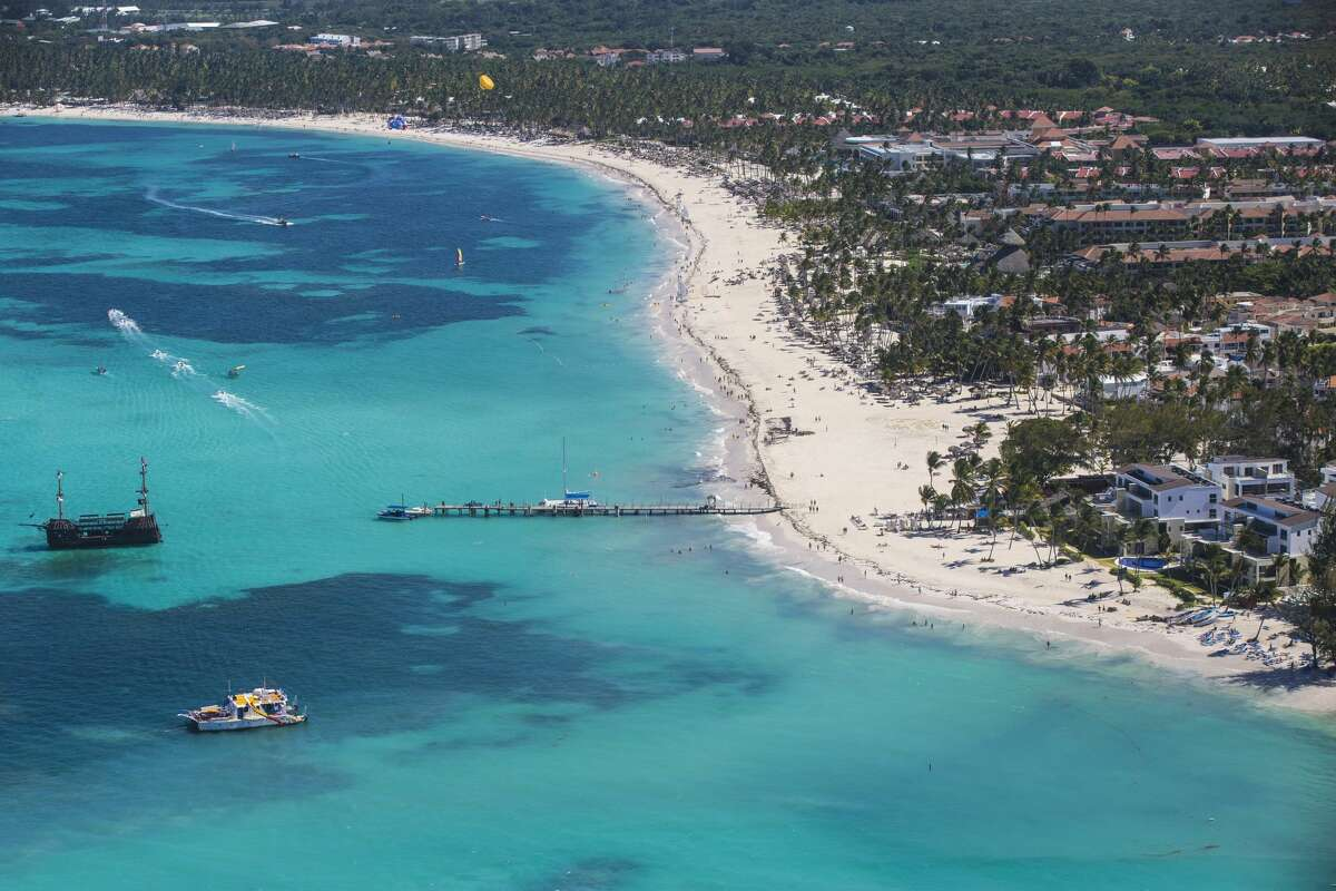 Punta Cana, Dominican Republic What to do: Whale season begins in January and runs through March as humpback whales migrate through the coast of this Dominican Republic city. Temperature: 69-84 degrees Fahrenheit  Price: $$ Best for: Sunshine
