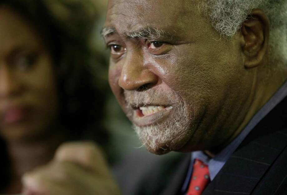 FILE - In this Nov. 9, 2009 file photo,  U.S. Rep. Danny Davis, D-Ill. announces that he will run for re-election to this 7th congressional seat in Chicago.  The grandson of Davis was fatally shot during in a home invasion in Chicago, the Democratic congressman and police said. Jovan Wilson, 15, died Friday, Nov. 18, 2016, at the scene in the Englewood neighborhood on the city's South Side, Officer Michelle Tannehill said.  (AP Photo/M. Spencer Green) Photo: M. Spencer Green, STF / AP2009