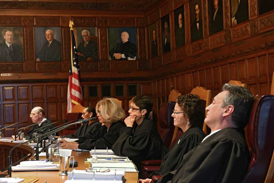 Judges of the New York State Court of Appeals listen to hearing arguments from a case on Thursday, Nov. 17, 2016 in Albany, N.Y. (Lori Van Buren / Times Union) Photo: Lori Van Buren / 20038863A