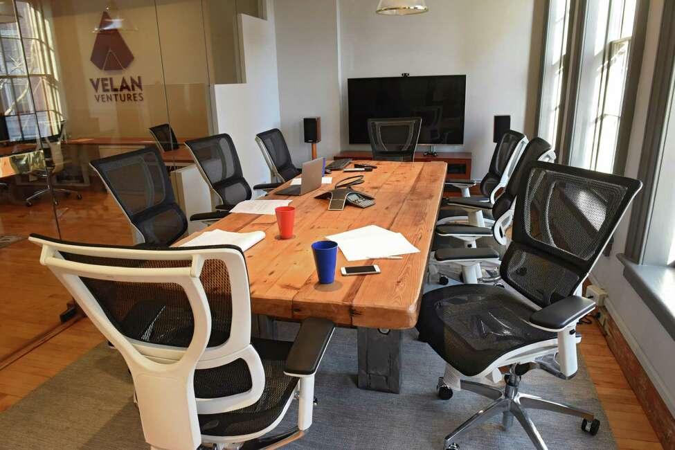 The conference room at Velan Ventures on Friday, Nov. 18, 2016 in Troy, N.Y. (Lori Van Buren / Times Union)