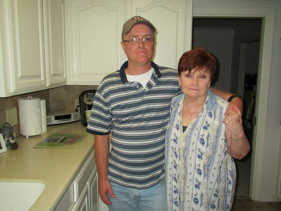Ricky Hall - shown here with his mother, Elizabeth Keith - was shot by a deputy sheriff at Ben Taub Hospital after taking a medical student hostage. The shooting left Hall with brain damage. / Source