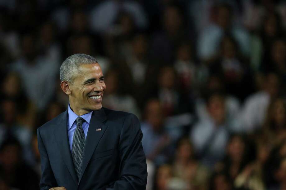 U.S. President Barack Obama smiles during a speech at a town hall with Young Leaders of the Americas Initiative (YLAI) in Lima, Peru, Saturday, Nov. 19, 2016. (AP Photo/Esteban Felix) Photo: Esteban Felix, STF / Copyright 2016 The Associated Press. All rights reserved.