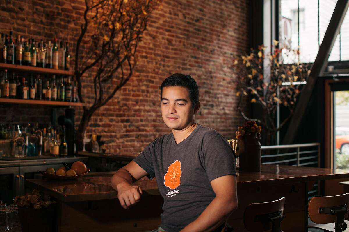 Matt Semmelhack, restauranteur, sits in his first restaurant, AQ, at 1085 Mission Street in San Francisco on November 20, 2016. He had to close his second restaurant, Bon Marche, this year. He's recently opened a third restaurant, Fenix, two doors down from AQ.
