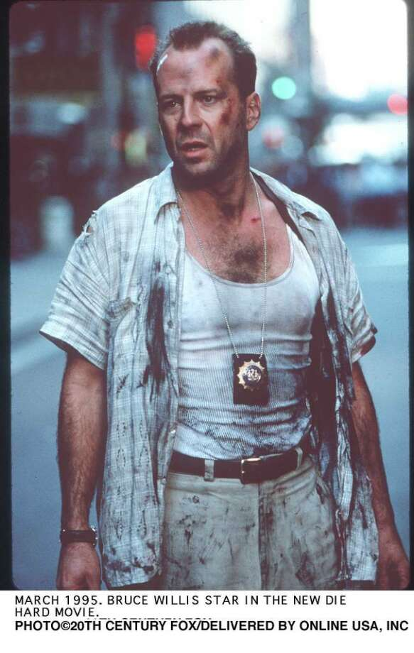 "Bruce Willis in ""Die Hard with a Vengeance"" which featured the Merritt Parkway. Photo: Getty Images / Getty Images North America"