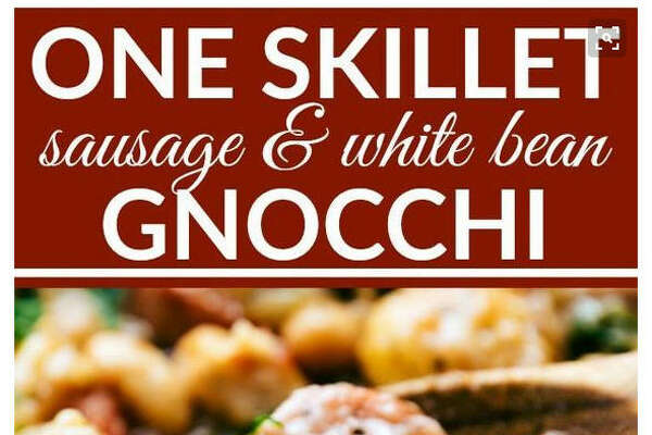 Dish:  One-skillet sausage and white bean gnocchi 