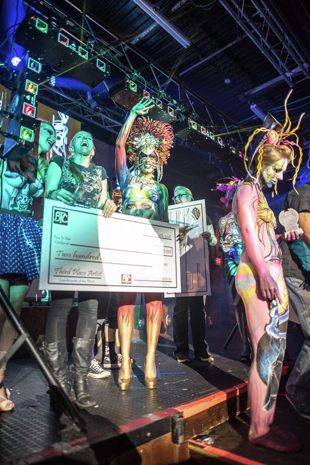 Things got surreal at the Beyond the Canvas body painting event Saturday, Nov. 19, 2016, at Club Rio where 30 artists competed for cash prizes and awards. Photo: By Isaiah Matthews, For MySA