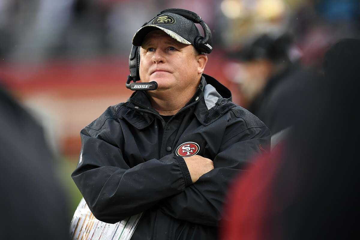 SANTA CLARA, CA - NOVEMBER 20: Head coach Chip Kelly of the San Francisco 49ers looks on during their NFL game against the New England Patriots at Levi's Stadium on November 20, 2016 in Santa Clara, California. (Photo by Thearon W. Henderson/Getty Images)