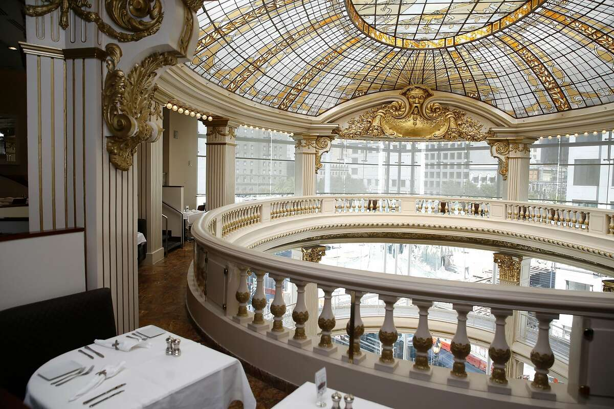 The Rotunda restaurant looking towards the City of Paris glass dome at Neiman Marcus San Francisco, Calif., on Tuesday, September 8, 2015.