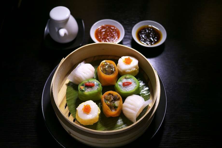 Dim sum platter at Hakkasan in S.F. Photo: Mark Whitfield