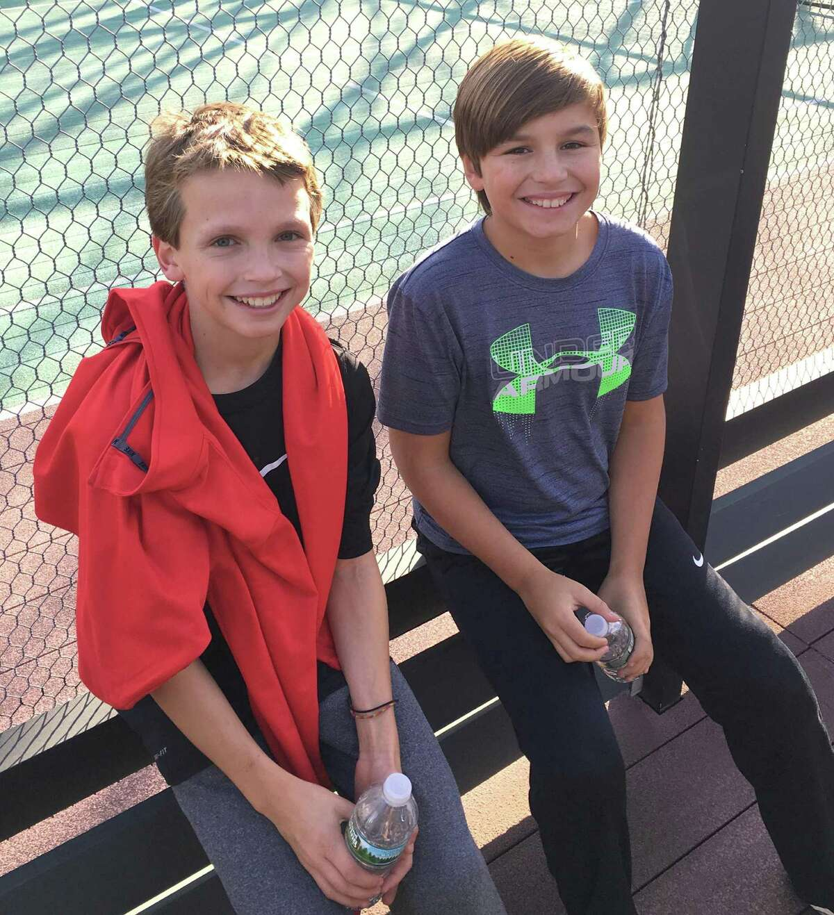 Wilton's Sam Gioffre and Michael McHugh were finalists in the Patterson Junior Ranking Open Tournament held in Westport, on Nov. 12.