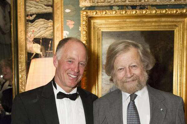 Robert Geary and Morten Lauridsen attend The Getty Family Hosts Volti SF Chamber Chorus November 16th 2016 at Private Residence in San Francisco, CA