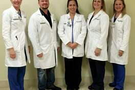 Kingwood Medical Center Nurse Practitioners Christin Touchet, left, Brett Whaley, Sandy Wood, Courtney Martinez and Christina Bennett were honored during the week of Nov. 13-19.