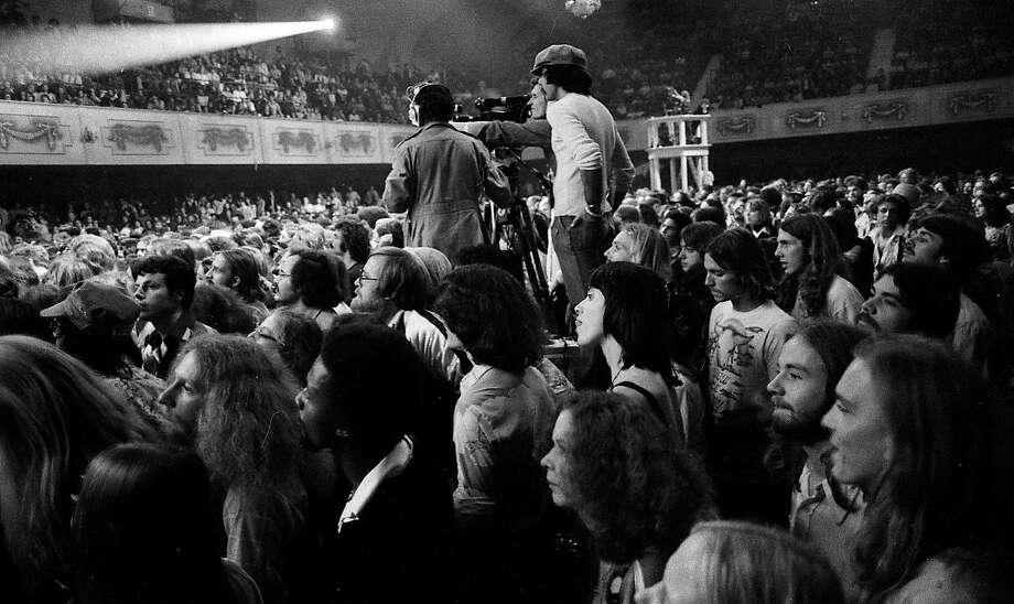 """The Last Waltz"" concert at Winterland in 1976 that featured The Band included performances by Neil Young, Bob Dylan, Van Morrison, Dr. John and Joni Mitchell, among many other stars. Photo: Gary Fong, The Chronicle"