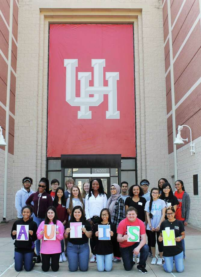 Members of the 2017 Youth In Philanthropy Class joined Caroline Bordelon, Hope for Three development director and project volunteer,  for a program about autism at the University of Houston Sugar Land. Photo: Hope For Three