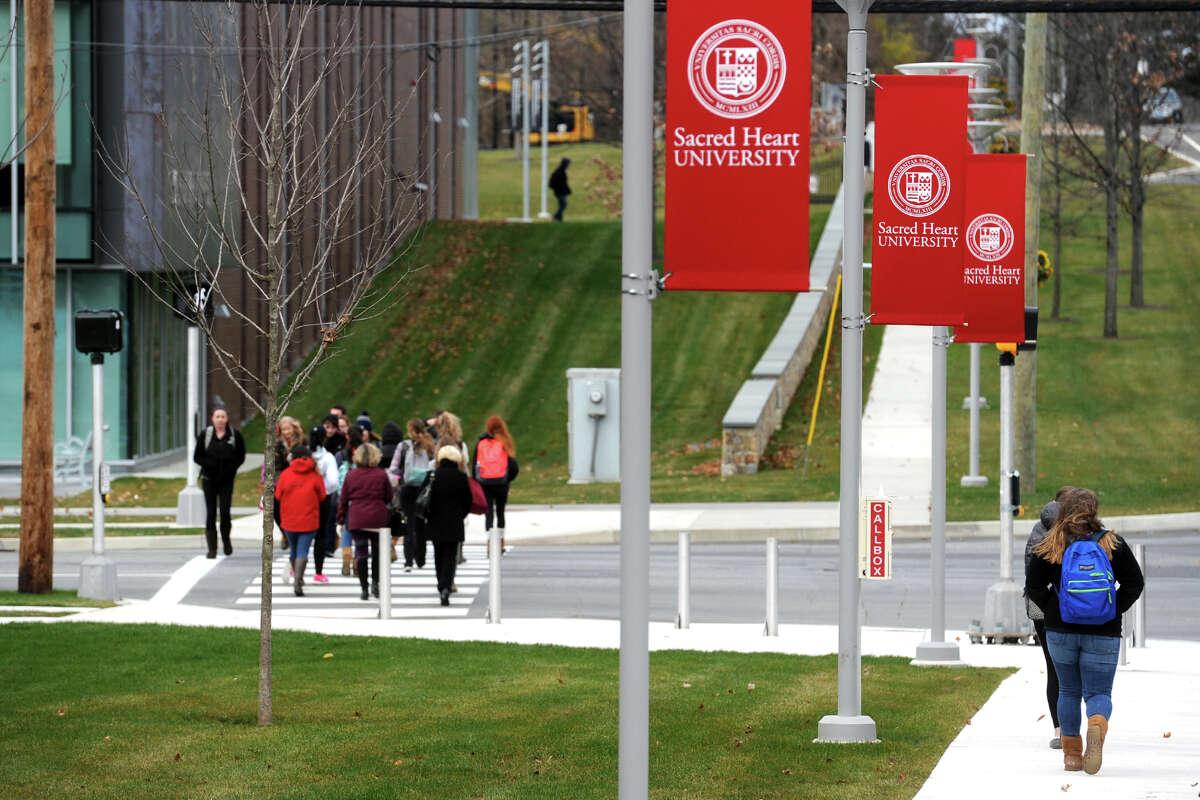 The Sacred Heart University campus in Fairfield, Conn.