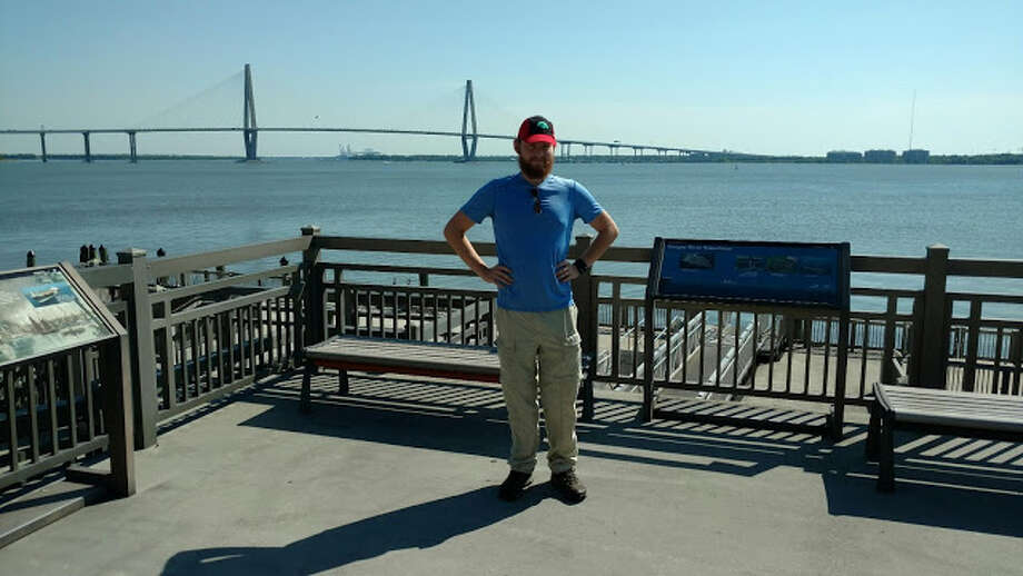 Logan Combs started his walk across America at Fort Sumter National Monument in Charleston, S.C., in May 2016. Photo: Logan Combs