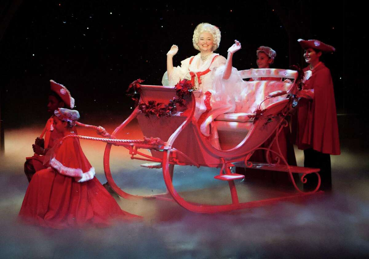 Melissa Pritchett stars as the Spirit of Christmas Past in the Alley Theatre's