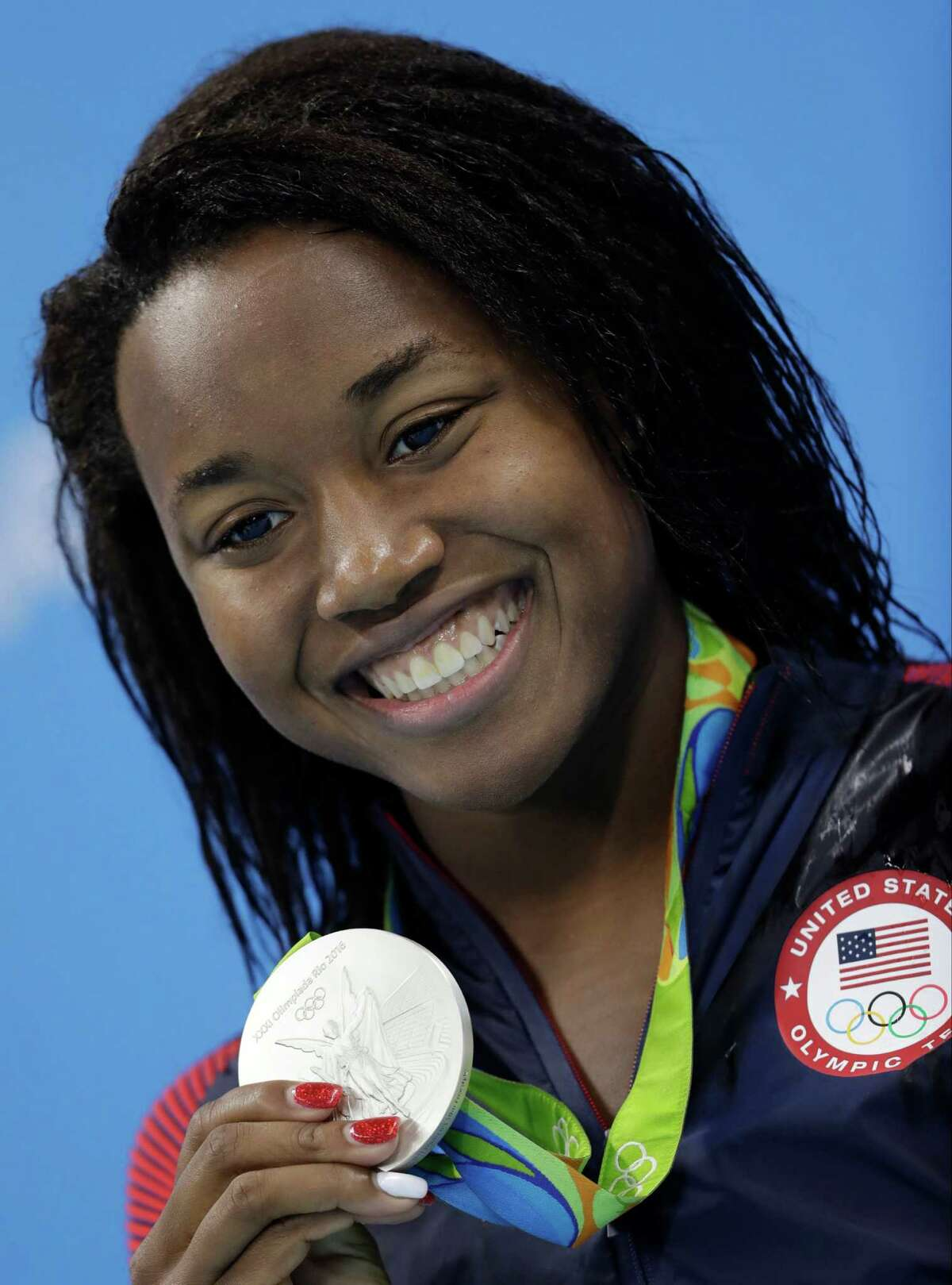 Simone Manuel - The Sugar Land native set both an Olympic and an American record for the 100-meter freestyle swim and became the first African-American woman to win an Olympic gold for an individual swimming event.