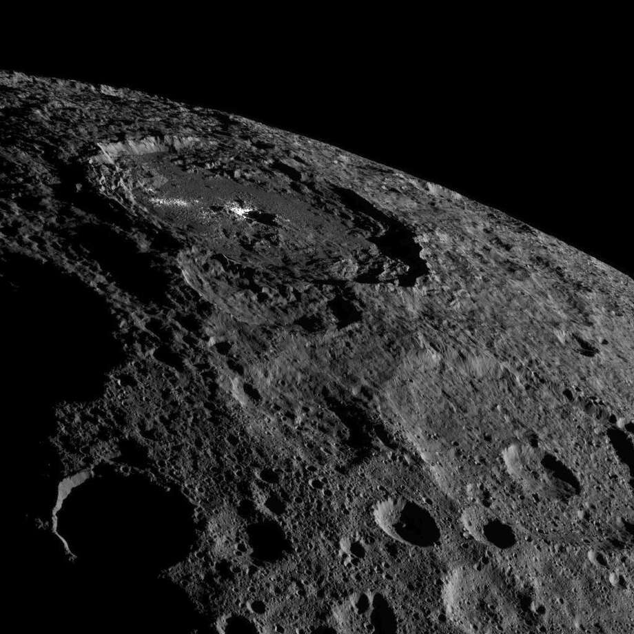 During its sixth orbit of Ceres, NASA's Dawn spacecraft recently snapped dozens of images of the dwarf planet, the largest object between Mars and Jupiter. Photo: NASA JPL