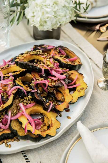 Roasted acorn squash was served with pepian sauce. Photo: Julie Soefer / Julie Soefer Photography