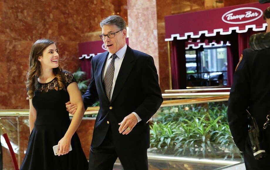 NEW YORK, NY - NOVEMBER 21: Former Texas Governor Rick Perry arrives at Trump Tower on November 21, 2016 in New York City. President-elect Donald Trump and his transition team are in the process of filling cabinet and other high level positions for the new administration. Photo: Spencer Platt, Getty Images / 2016 Getty Images