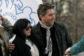 PARIS, FRANCE - FEBRUARY 23:  Actress Shannen Doherty and Chris Cortazzo are seen on the 'Sea Shepherd' boat on February 23, 2015 in Paris, France.  (Photo by Marc Piasecki/GC Images)