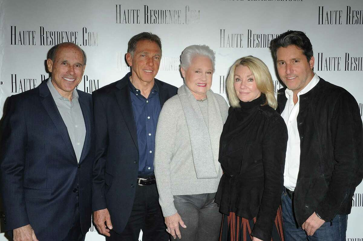 WEST HOLLYWOOD, CA - APRIL 08: (L-R) Jeff Hyland, Randy Solakian, Joyce Rey, Jade Mills and Chris Cortazzo arrive at the HauteResidence.com Los Angeles Luxury Real Estate Summit at The London West Hollywood on April 8, 2015 in West Hollywood, California. (Photo by Joshua Blanchard/Getty Images for Haute Living)