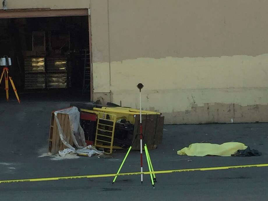 A man who was crushed by a forklift died in San Francisco's Dogpatch neighborhood Monday afternoon. Photo: J.K. Dineen / The Chronicle