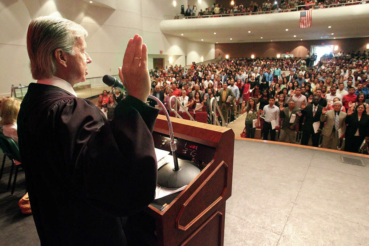 Judge John Primomo, who has long presided over naturalization ceremonies, reportedly told new citizens last week that if they don't like Donald Trump as president, they should leave the U.S.